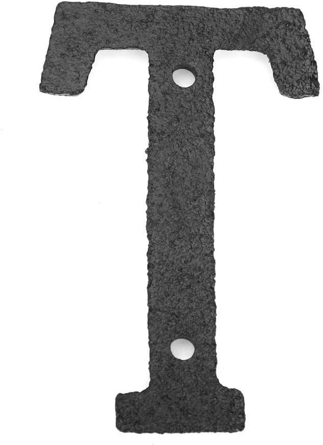Rue Hausnummer mit Befestigungsschraube T/ürzeichen Domybest Haus-Alphabet aus Metall Buchstaben