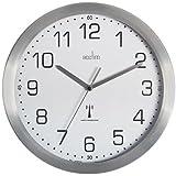 Acctim 74337 Mason Radio Controlled Wall Clock, Silver