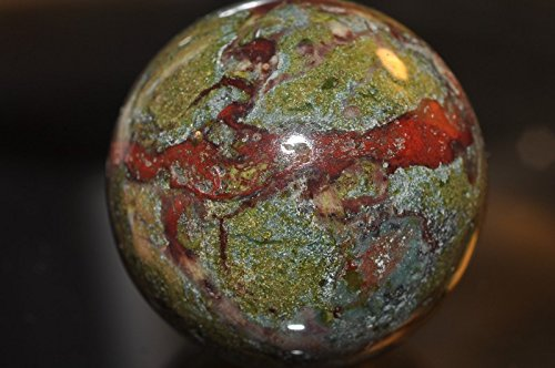 • Bella-gems • 30mm-Hand Picked Superb Quality~Australia DRAGON BLOOD JASPER Sphere | Bloodstone Crystal Ball | Healing Stone | Gift- J1179