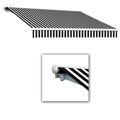 UPC 731478928083, Awntech 20-Feet Galveston Semi-Cassette Right Motor with Remote Retractable Awning, 120-Inch Projection, Black White