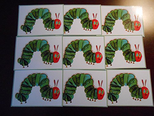 9 The Very Hungry Caterpillar Stickers, Decals, Labels