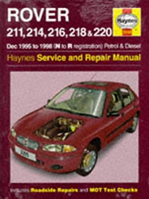 rover 200 series 95 98 service and repair manual haynes service rh amazon com Red Rover 400 Rover 400 R8