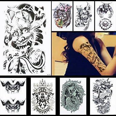 HJLHYL? 8pcs del demonio del diablo Buda enfrentan tatuaje tatuaje ...