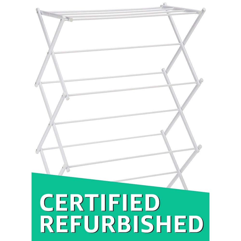 AmazonBasics Foldable Drying Rack - White (Certified Refurbished)