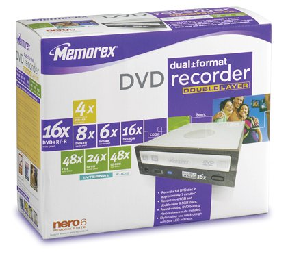Memorex 16x Dual Format, Double-Layer Internal DVD Drive