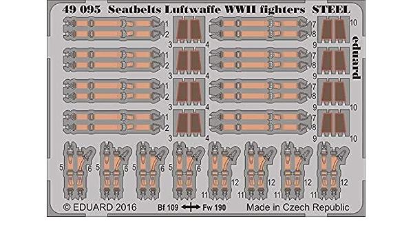 Eduard Photo Etch WWII Luftwaffe Fighter Seatbelts 1//48 49 002 for sale online