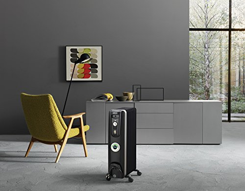 Delonghi Oil Filled Radiator Space Heater Quiet 1500w