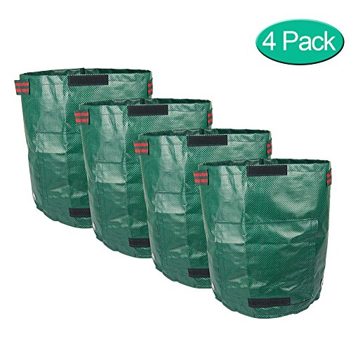 NINAT Grow Bag with Flap and Handles, Collapsible, 7 gallons,4 Pack