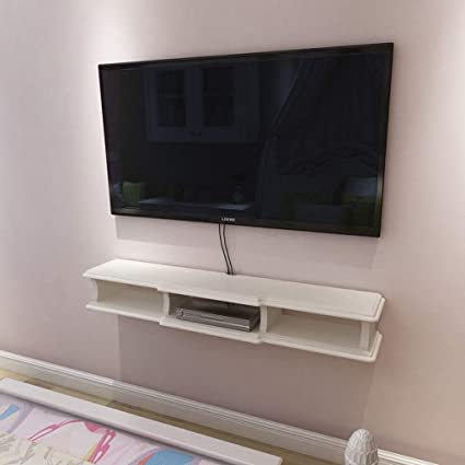 . Amazon com  Wall Mounted TV Cabinet Living Room Bedroom Wall Shelf