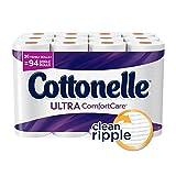 COTTONELLE ULTRA COMFORTCARE FAMILY ROLL TOILET PAPER, BATH TISSUE, 36 TOILET PAPER ROLLS