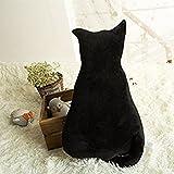 Missley Cute Cat shaped Cushion Stuffed Plush Dolls Stuffed Animal Pillow For Home Decoration (70, black)