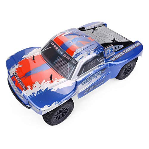 RONSHIN Models for ZD Racing Thunder SC-10 1/10 2.4G 4WD 55Km/h RC Car Electric Electricless Brushless Short Course Vehicle RTR Blue red (Blue Thunder Rc Helicopter)