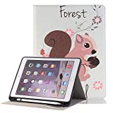 iPad Pro 12.9 Case,Businda Ultra Slim Lightweight Case with PU Leather Auto Wake/Sleep Flip Folio Stand Smart Cover for Apple iPad Pro 12.9 inch,Small Squirrel