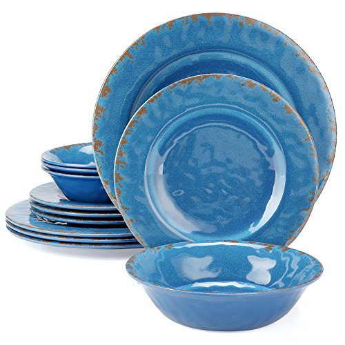 Dinnerware Plate And Bowls Set Yinshine 12pcs Outdoor