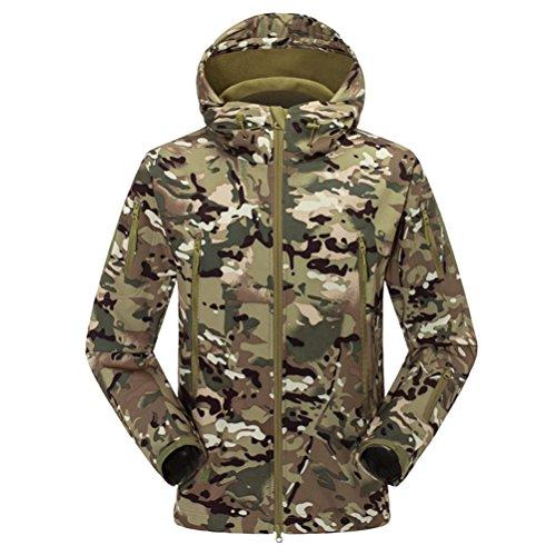 Green Zhuhaitf Bello Waterproof Skin Jacket Hooded Camouflage Sunscreen Men's Outdoor Shark rrdqa6xvAw
