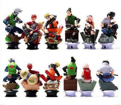 KWELJW Anime Doll Snare Ninja Naruto 6 Chess Swing PVC Doll ...