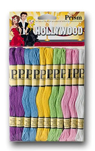DMC PRISM-SPR Prism Cotton Six Strand Floss Craft Thread, Spring, 36/Pack