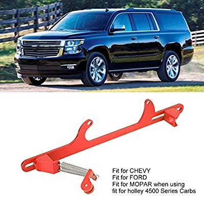 Throttle Cable Bracket Set,Aluminum Alloy Adjustable Throttle Bracket Cable Accessory Part Fit for FORD 4500 Series(Red): Automotive
