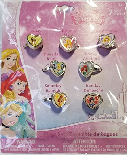 (Disney Princess 7 Days of the Week Ring Set by H.E.R. Accessories)