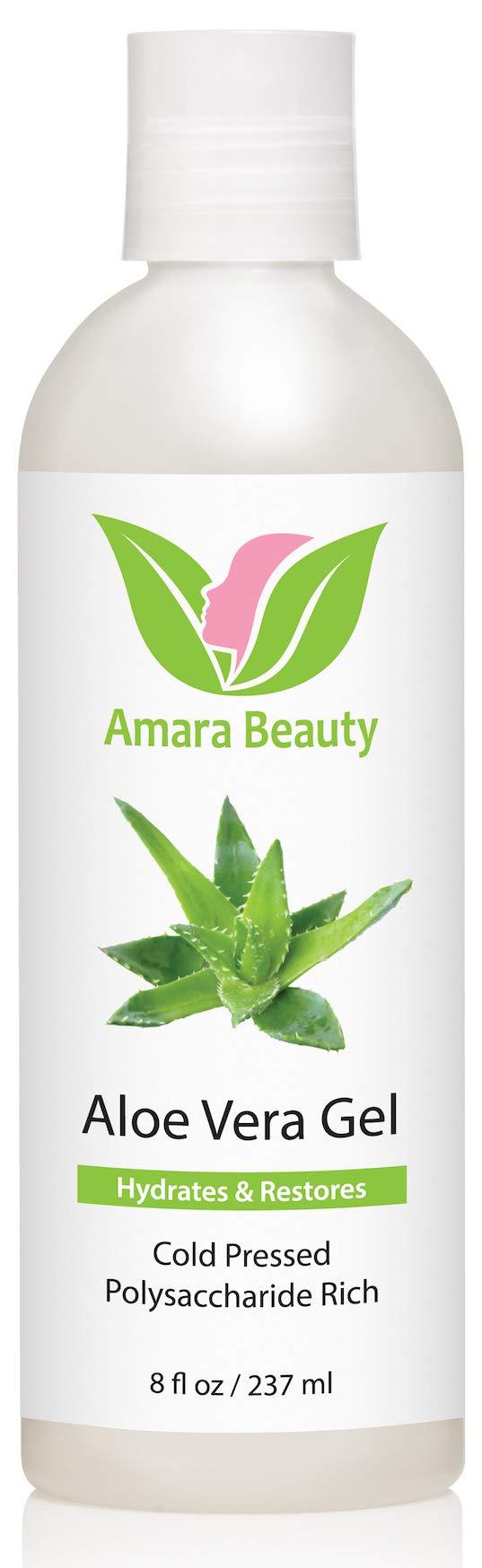Aloe Vera Gel from Organic Cold Pressed Aloe, 8 fl. oz. by Amara Beauty