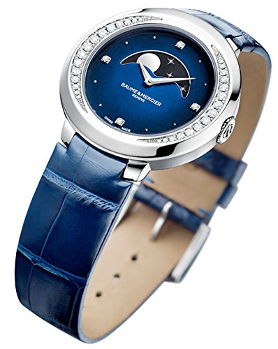 Womens Baume & Mercier Promesse Blue Moonphase Watch 10347