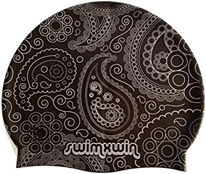 Swimxwin Bonnet en Silicone Frog/ Bonnet de Natation Conception et Style Italien Grand Confort et adh/érence