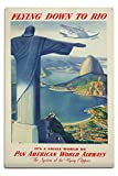 Pan Am - Rio (artist: Anonymous) USA c. 1936 - Vintage Poster (12x18 Aluminum Wall Sign, Wall Decor Ready to Hang)