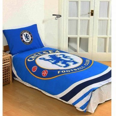 - Official Chelsea FC Single Duvet Cover Set With Pillowcase (Reversible)