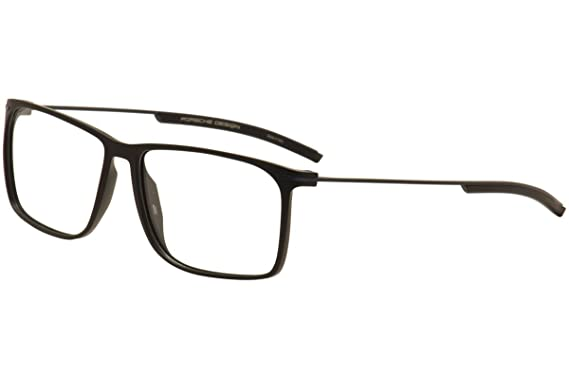 ef9fa10a1f560 Porsche Design Men s Eyeglasses P8296 P 8296 A Black Full Rim Optical Frame  57mm