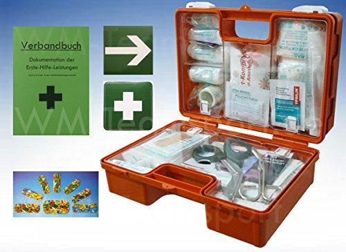 Erste-Hilfe-Koffer KITA PLUS -Paket 1- DIN/EN 13157 für Betriebe + DIN/EN 13164 für KFZ - incl. 1.Hilfe-Aufkleber