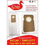 Riccar Type B HEPA bag - RBH / Simplicity Type B HEPA bag SBH ( 20 HEPA bags ) designed by iClean Vacuums - to fit Riccar 8000 and Simplicity 7000 series vacuum . Better Quality - Better Value $$