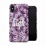 Stay High All The Time Purple Haze Weed Plastic Phone Snap On Back Case Cover Shell For iPhone X