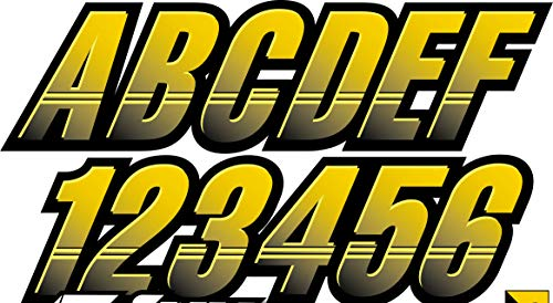 paintball number stickers - 7