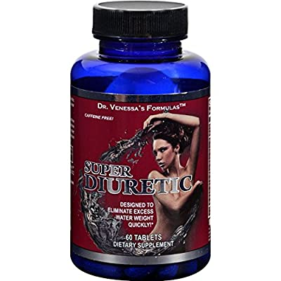 Dr. Venessas Formulas High Potency Diuretic - 60 Tablets - Clinically Tested to eliminate excess water weight quickly - Caffeine Free