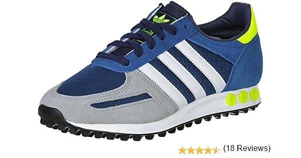 adidas Zapatillas La Trainer Azul/Blanco EU 36 2/3 (UK 4): Amazon.es: Zapatos y complementos