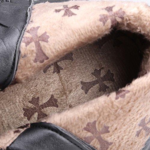 Ei&iLI Printemps des femmes / automne / hiver ronde Toe simili cuir Casual talons bas , black , 36