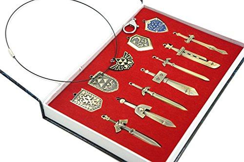 The Legend of Zelda Necklace Sword Shield Set of 11 (Legend Of Zelda Swords)