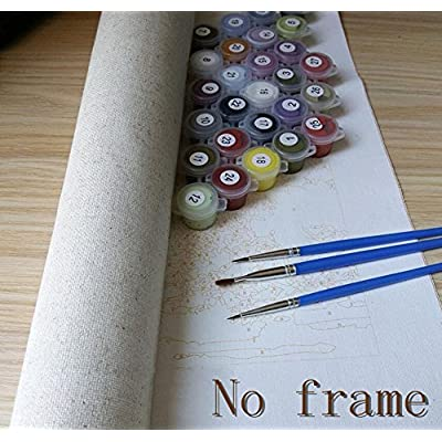 New Arrival DIY Oil Painting by Numbers Kit Theme PBN Kit for Adults Girls Kids White Christmas Decor Decorations Gifts-Cock (Without Frame, NO-1): Arts, Crafts & Sewing
