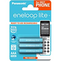 Panasonic eneloop Lite AA Ready-to-Use Mignon AAA 3er Pack DECT lichtblauw