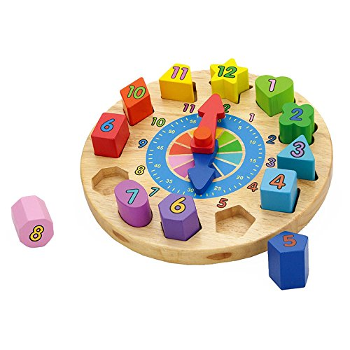 Wooden Round Clock by Viga Toys (Image #3)
