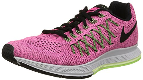 Price comparison product image Nike Air Zoom Pegasus 32 Running Shoe - Womens Pink Pow/Barely Volt/Ghost Green/Black, 9.0