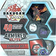 Bakugan Pro, Armored Elite Starter Set with Transforming Creatures, Pyrus Batrix, for Ages 6 &