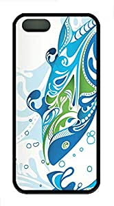 iPhone 5s Case, iPhone 5s Cases - Aquatic Duality TPU Polycarbonate Hard Case Back Cover for iPhone 5s¨CBlack