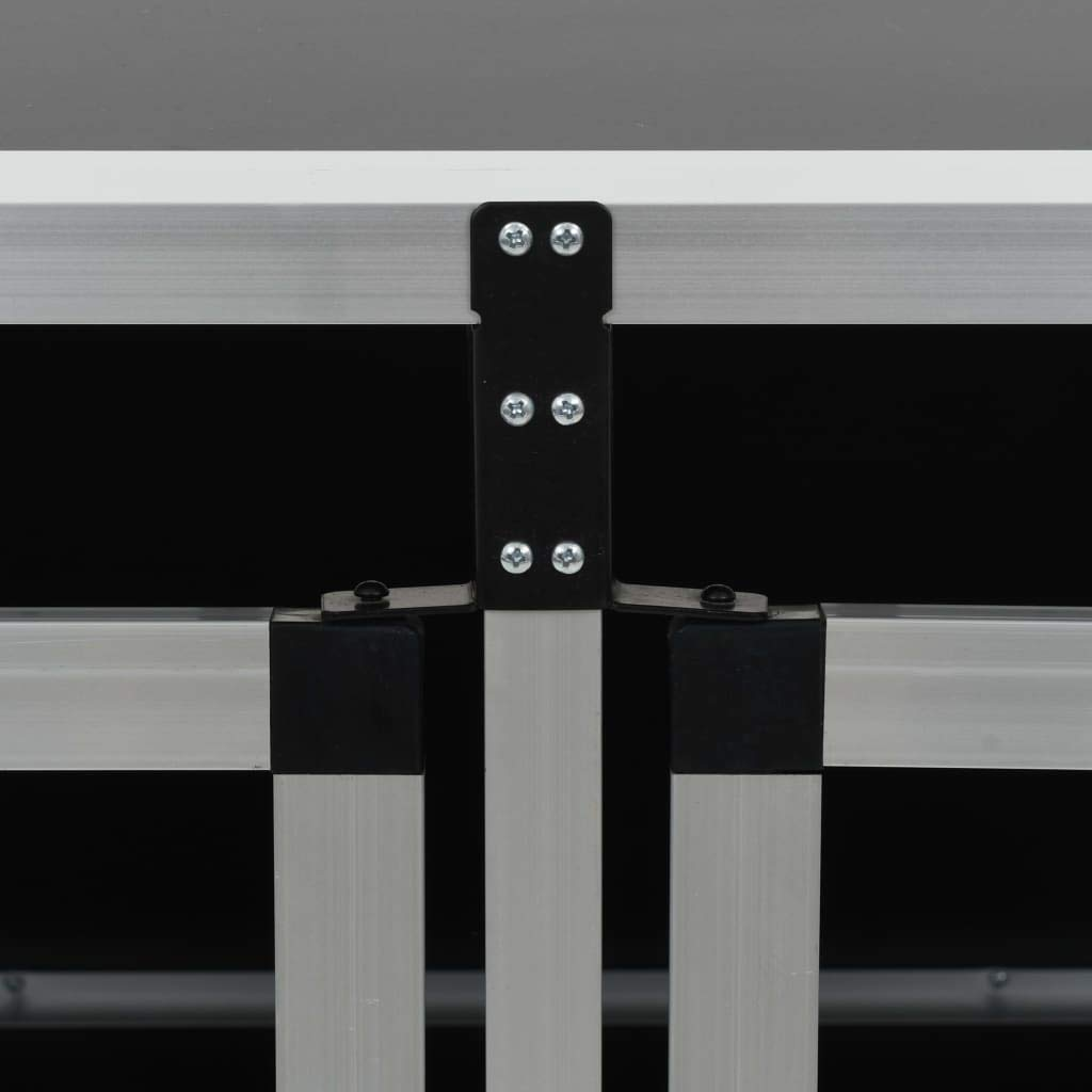 Hunde Transportbox f/ür Auto 89 x 69 x 50 cm mit Doppelt/ür Festnight Hundebox Autobox Hundetransportbox Alubox Hund Reisebox Silber