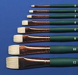 Silver Brush 1002-2 Grand Prix Premier Long Handle Hog Bristle Brush, Bright, Size 2