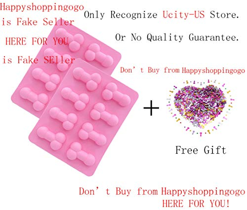 - Ucity 2 Pack Bachelorette Party Molds - Candy Chocolate Mold Silicone Ice Cube Soap Tray Molds with Free Pack Confetti