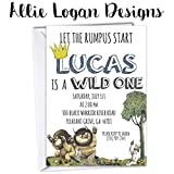 Where The Wild Things Are First Birthday Party Invitation - all ages available