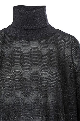 Algodón Negro Fit L It Suéter Slim M Plata Missoni Mujer Casual w0Hgq