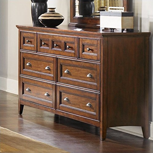(Magnussen B1398 Harrison Cherry Finish with Antique Brass Hardware Wood Double)