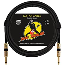 RIG NINJA GUITAR CABLE for Serious Musicians, Quality Electric Guitar Amp Cord for a Clean Tone to the Amplifier, Durable Instrument Cables, Great Signal Transmission, Low Noise Guitars & Bass Cords